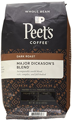 Peets Coffee, Major Dickason's Combination, Whole Bean 32oz