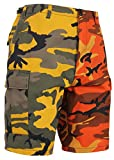 Rothco Two-Tone Camo BDU Short, Stinger Yellow/Savage Orange Camo, M