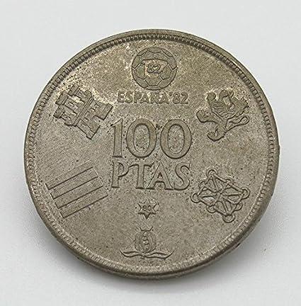 Desconocido Moneda Conmemorativa del Mundial de Fútbol del Año 1982. Moneda de Plata de 100 Pesetas del Mundial 82: Amazon.es: Juguetes y juegos