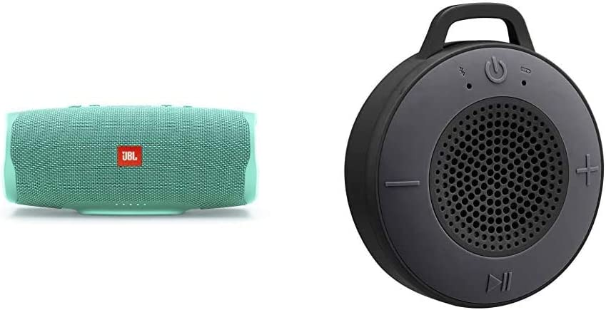Jbl Charge 4 Bluetooth Lautsprecher In Petrol Wasserfeste Portable Boombox Mit Integrierter Powerbank Amazon Basics Kabelloser Dusch Lautsprecher Mit 5 W Treiber Eingebautem Mikrofon Schwarz Audio Hifi