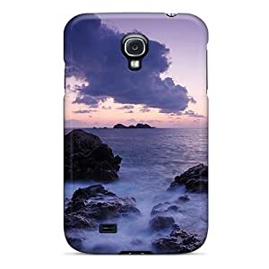 New Arrival Purple Sunset For Galaxy S4 Case Cover