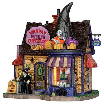 Lemax Spooky Town Collection Halloween Village Building, Wanda'S Wicked (Best Halloween Cupcake Decorations)