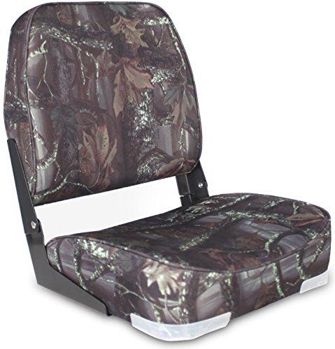 Leader Accessories Camo Folding Marine Boat Seat (Camo/Black hinge)