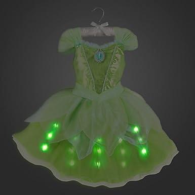 DISNEY STORE TINKER BELL TINKERBELL LIGHT UP COSTUME DRESS FAIRY 2016 4