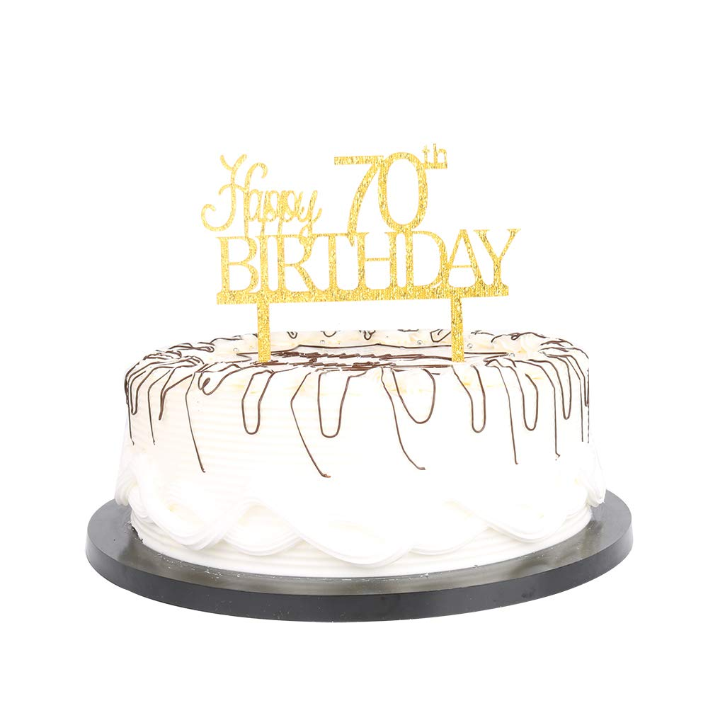 Amazon Gold Happy 70th Birthday Cake Topper Party Decoration Ideas