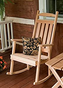 Outdoor Classic Front Porch Rocker - PAINTED- Amish Made USA -Coffee