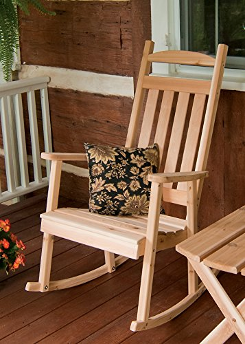 Outdoor Classic Front Porch Rocker - STAINED- Amish Made USA -Redwood