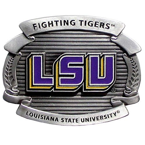 (Siskiyou NCAA LSU Tigers Unisex Oversized Belt Buckle)