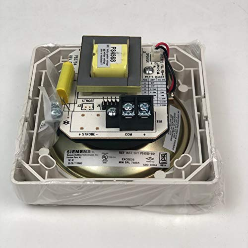 SIEMENS SE-W P/N 500-636030 Fire Alarm Speaker White ...
