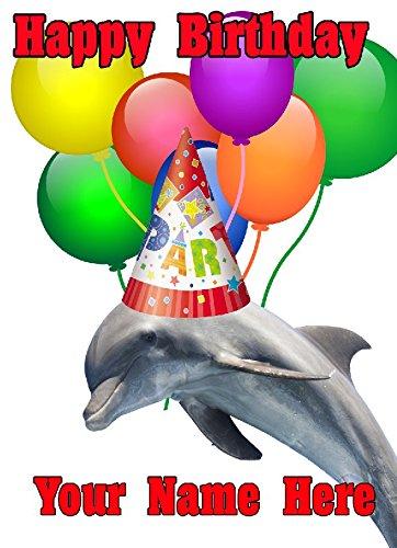Delfín gorro de fiesta cptmi68 feliz cumpleaños A5 Tarjeta ...