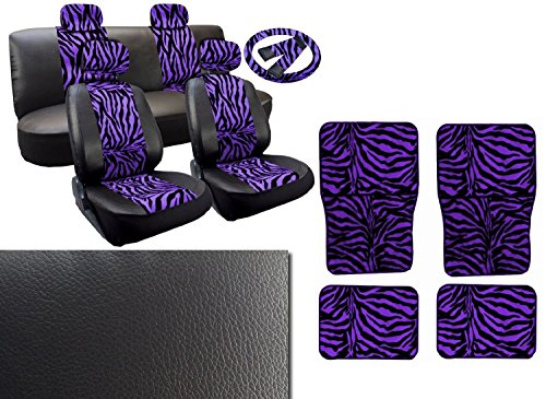 zebra car seat cover pu leather - 7
