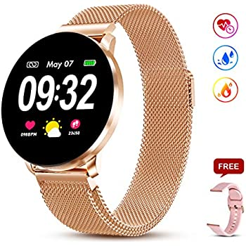 Amazon.com: SD Butterfly Series Rose Golden Smart Watch for ...