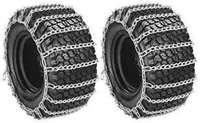 The ROP Shop New Pair 2 Link TIRE Chains 18x6.50x8 for Garden Tractors//Riders//Snowblowers
