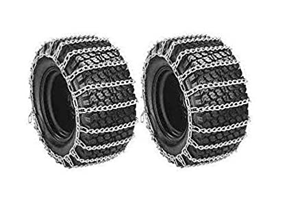 MowerPartsGroup New Pair 2 Link TIRE Chains 16x6.50x8 for Garden Tractors/Riders / Snowblowers