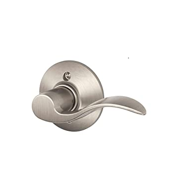 schlage accent right handed lever non turning lock satin nickel