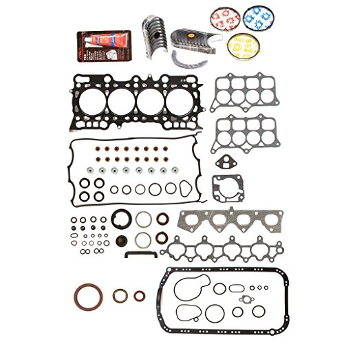 Evergreen Engine Rering Kit FSBRR4016EVE\0\0\0 93-96 Honda Prelude 2.2 H22A1 Full Gasket Set, Standard Size Main Rod Bearings, Standard Size Piston Rings (Prelude Piston Ring)