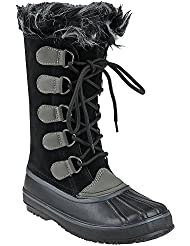 Capelli New York Lace Up Boot with Faux Fur Womens Boot