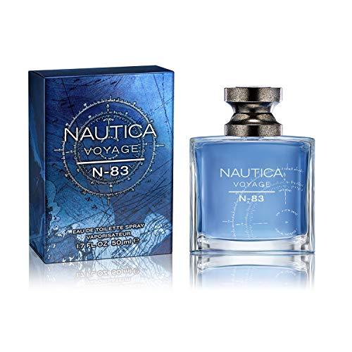 Nautica N-83 Voyage Eau de Toilette for Men, 1.7 oz., Nautica's Classic Men's Scent, Water & Sailing Inspired Fragrance, Great Gift