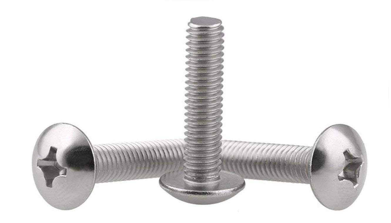 304 Stainless Steel Truss Head Bolts Adiyer 40-Pack Metric M4 x 40mm Machine Screws for Cabinet Drawer Knob Pull Handle Phillips Drive