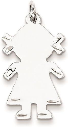 Sterling Silver Girl Pendant