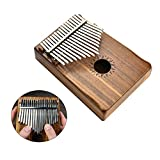17 Key Kalimba Thumb Piano Mbira with Solid Koa Wood and Mineral Steel Keys (Includes Tuning Hammer, Music Book, Instructions, and Cloth Carrying Bag)