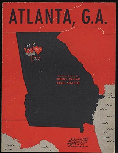 Atlanta G. A. sheet music by Skylar & Shaftel (Skylar Sheet Music)