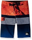 Quiksilver Big Boys' Highline Lava Division Kids Swim Trunks, Navy Blazer, 26/12