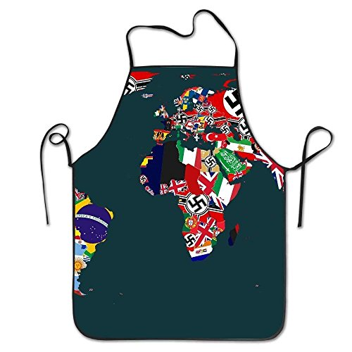 Flag Map Deluxe Aprons Personalized Printing Kitchen Apron ()