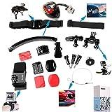 Great Value Gopro Set Kits DAZZNE KT-107 Riding Camera Accessory Set for GOPRO Black