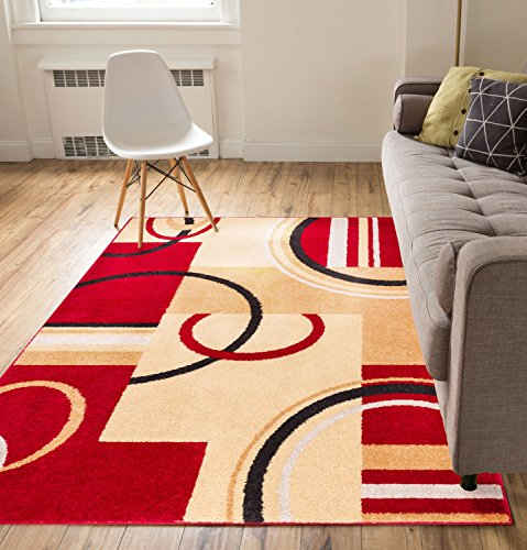 metro-shapes-red-beige-modern-geometric-boxes-lines-pattern-33-x-5-area-rug-soft-shed-free-easy-to-c