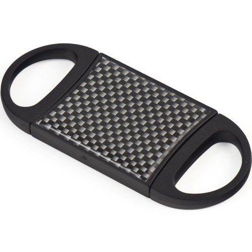 Carbon Fiber Double Guillotine Accu-Cut Premium Cigar Cutter by CigarExtras