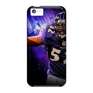 Iphone 5c YEP20301jvyb Provide Private Custom Lifelike Baltimore Ravens Pattern Shockproof Hard Cell-phone Case -DannyLCHEUNG