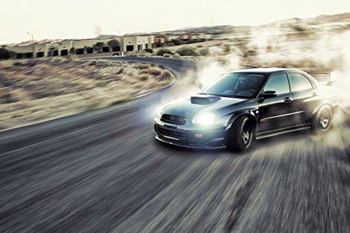 Subaru Impreza Wrx Drift Car Poster