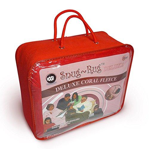 Snug Rug Deluxe - Das Original / Kuscheldecke mit Ärmeln, rot für Erwachsene