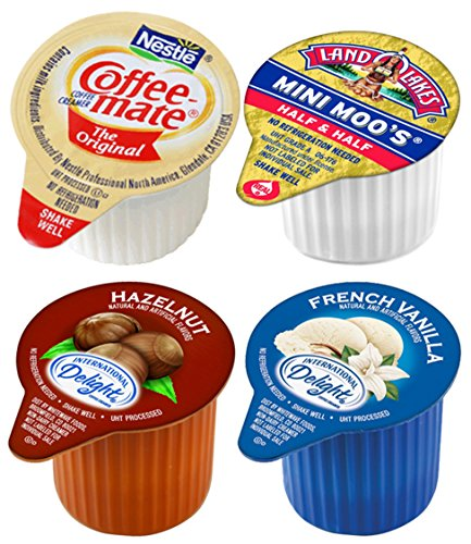 Coffee Creamers Variety Sampler Pack, Single Serve Cups (80 Count)