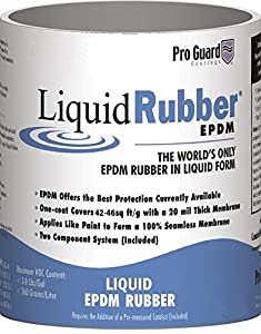 Liquid Rubber Black Liquid EPDM Roof Coating 1 Gallon