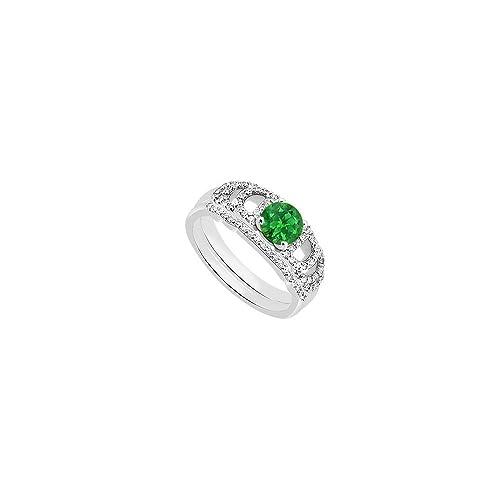 ramassé outlet à vendre magasin en ligne Verde smeraldo e anelli di fidanzamento con diamante anello ...