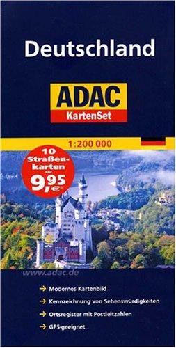 ADAC StraßenKartenSet Deutschland: Blatt 1-10. 1:200000 (ADAC AutoKarten Deutschland 1:200 000)