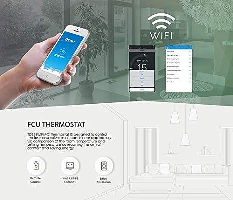Beok TDS23WIFI-AC2-WB - Bobina de ventilador termostato con ...