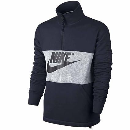 Nike Sudadera Top Air Halfzip FLECCE Marino Gris XXL