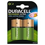Duracell Rechargeable D Size Batteries - Pack of 2