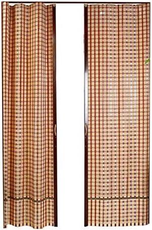 Jcnfa-Roller persianas enrollables de bambú, Puertas correderas Plegables Izquierda y Derecha, con Asas de Madera, partición de habitación, Sala de Estar, recámara, tamaño Personalizable: Amazon.es: Hogar