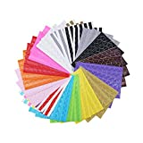 LJY 32 Sheets Self-Adhesive Photo Mounting Corner Stickers for DIY Picture Album Scrapbooking, 16 Styles Assorted