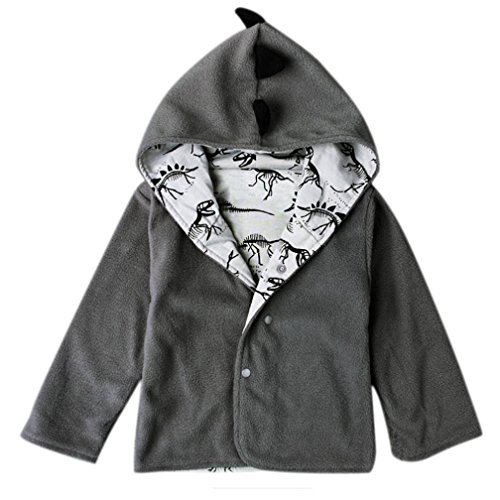 Leegor Loverly Baby Coats Children Hooded Jacket Boy Dinosaur Clothes Outwear ()