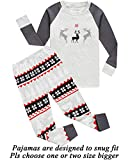 Boys and Girls Christmas Pajamas Cotton Reindeer Toddler Clothes Kids Pjs Sleepwear Size 4T