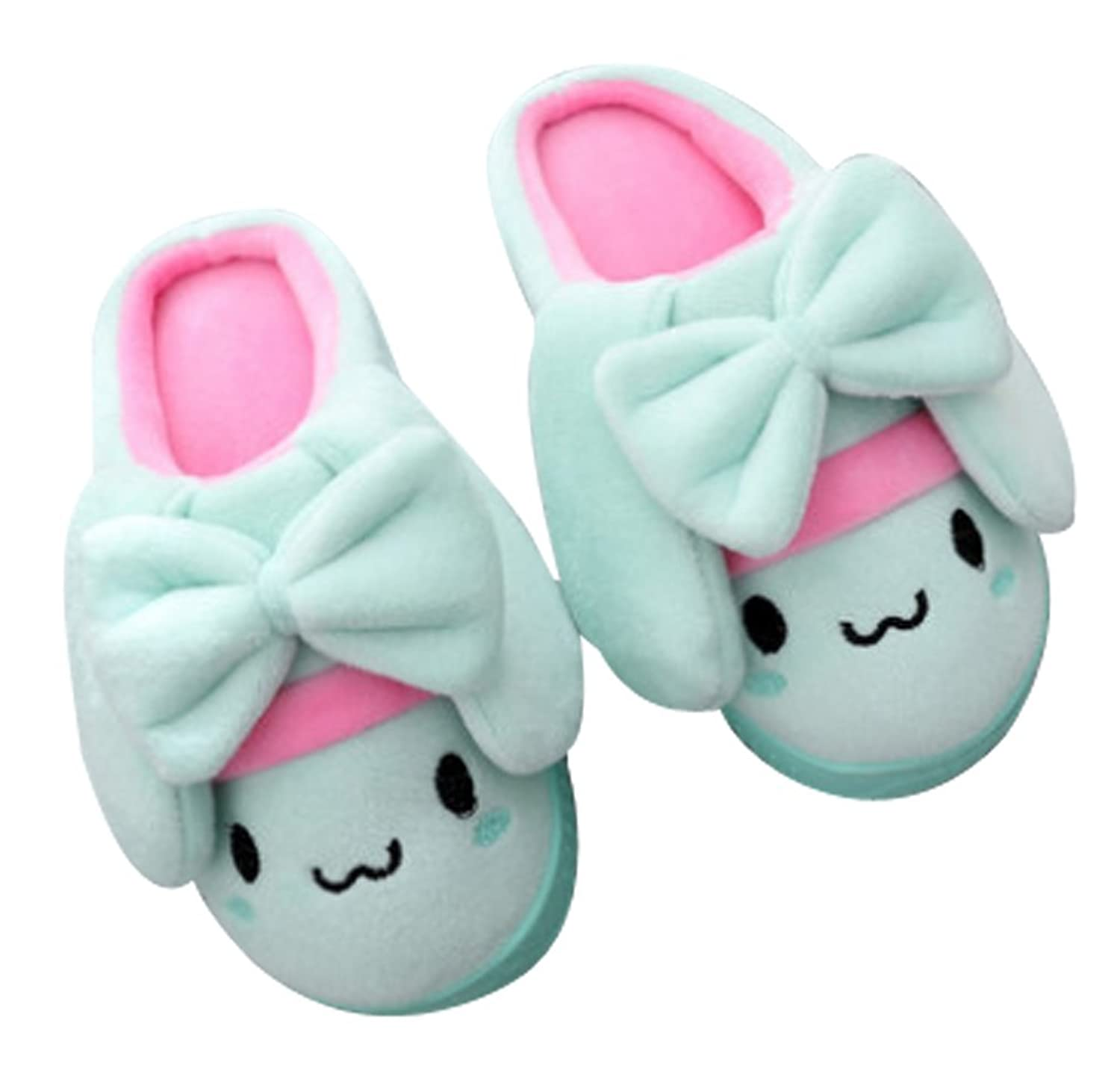 Cwait Coral Pink Girls Slippers Light Weight Indoor Fluffy Slippers Toddler Little Kid