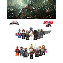 ABG TOYS 16 Minifigures MARVEL DC COMICS Ant-Man Ant Man II, Egg Man, Wasp, Captain America, Yellow Jacket, Falcon, Ant Man Scot, Ultron, Ant Man, Giant Ant Man Hank Pim, Winter Soldier, Iron Man, War Machine, Scarlet Witch, Crossbones, Black Widow Building Blocks Sets Toys