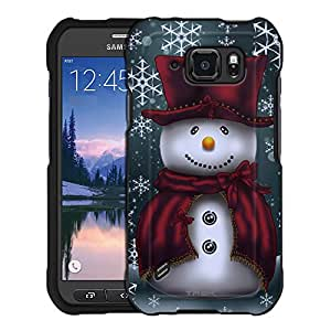 Samsung Galaxy S6 Active Case, Snap On Cover by Trek Snowman in Red Case