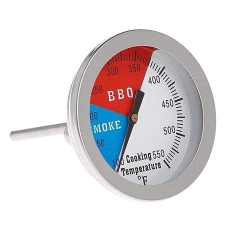 BiiYo 2 550F BBQ Thermometer Gauge Barbecue Grill Wood Smoker Charcoal Heat Indicator