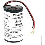 VDI - Batterie lithium ER34615M D /SG 3.6V 14.5Ah molex